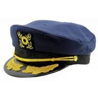 Dorfman Pacific Nautical Hat-Navy Plastic Snapback