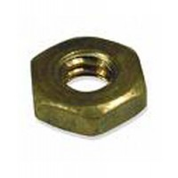 "Brass Shaft Nut - Jam 7/8"" x 9 for 1-1/4"" Shaft"