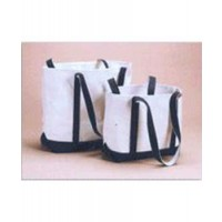 Green Mountain Travel Tote Canvas w/ Navy Trim - Small