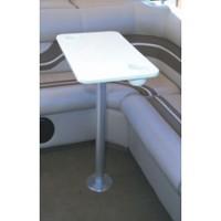 Garelick Stowable Table w/ Flush Mount Pedestal