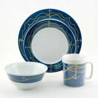 Galleyware Box Set w/ Plates, Bowls & Mugs - Anchorline