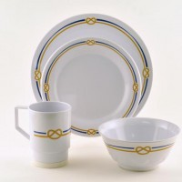 Galleyware Box Set w/ Plates, Bowls & Mugs - Rope