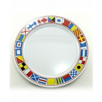 "Galleyware Serving Platter 12"" Plate - Code Flags"