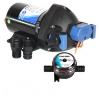 Jabsco Diaphragm Shower Drain Pump Par-Max 3.5 GPM 12V