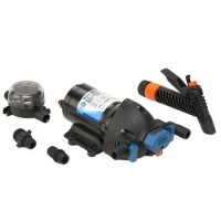 Jabsco Washdown Pump w/ Nozzle, Strainer, & Fittings