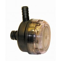 Jabsco Pumpguard Strainer 90 Deg 1/2 Inch Hose x Plug In