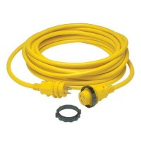 Marinco 30 Amp 125 V Shore Powercord Plus 50' Yellow