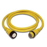 Marinco 50 Amp 125/250 V Shore Power Cord Plus 50 Foot Yellow