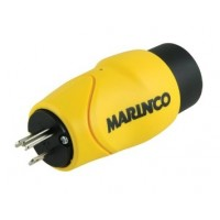 Marinco Straight Adapter-15A Male to 30A Female
