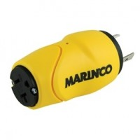 Marinco Straight Adapter 30A Male to 15A Female