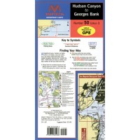 Maptech Waterproof Chart Hudson Canyon to Georges Bank