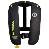 Mustang Inflatable Life Vest - Black/Green