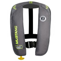 Mustang Inflatable Life Vest - Green/Yellow
