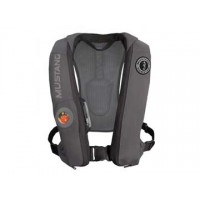 Mustang Elite Inflatable PFD Auto w/ Hydrostatic Release - Gray