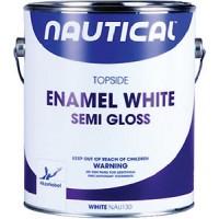 Nautical Enamel Topside Paint White Gallon Semi-Gloss