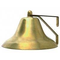 "Perko Fog Bell Plain Brass 6"" Base Diameter"