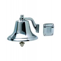 "Perko Fog Bell Chrome Plated Bronze 6"" Diameter 5"" H"
