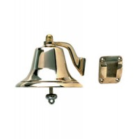 "Perko Fog Bell Cast Bronze 6"" Diameter 5"" High"