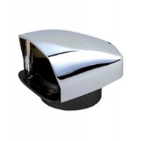 """Perko Cowl Vent Chrome Plated Zinc 3"""" Duct"""
