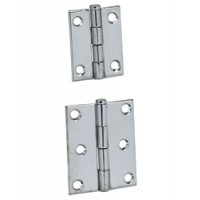 "Perko Butt Hinge Chrome Plated Brass 1-1/2"" X 1-1/2"""
