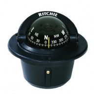 Ritchie F-50 Black Explorer Compass Flush Mount