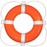 "Taylor Ring Buoy 24"" - Orange"