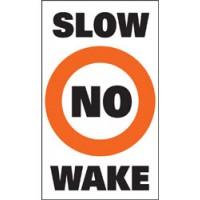 "Taylor Sur-Mark Buoy Labels No Wake, 13"" x 24"""