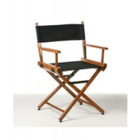 "Telescope Director Chair Walnut - 17"" Seat Height"