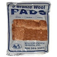 Bronze Wool Pads - Fine 3 Pads per Package